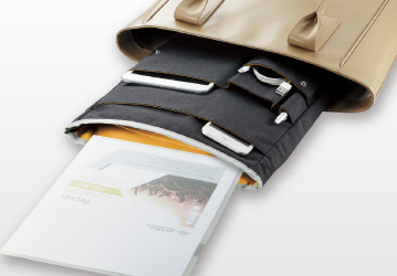 e37e00881ab0 バッグインバッグ〈Bizrack up〉(A4タテ). A4タテ タテ型のトートバッグやリュック内の整理 ...